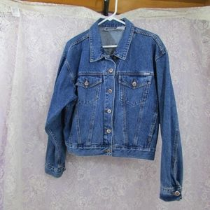 Vintage Bill Blass Denim Jean Jacket Boxy No tag
